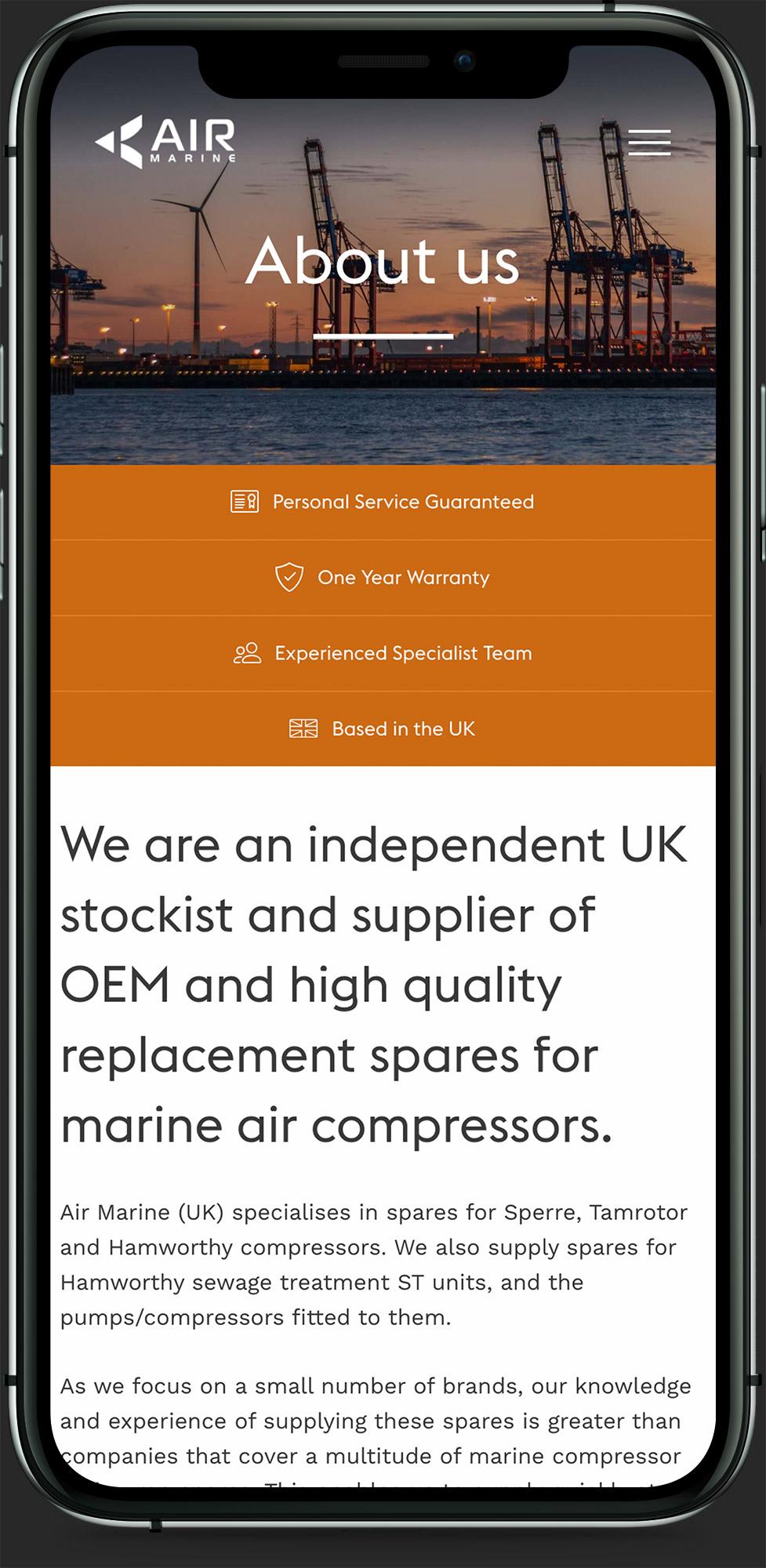 Air Marine UK - Responsive Design