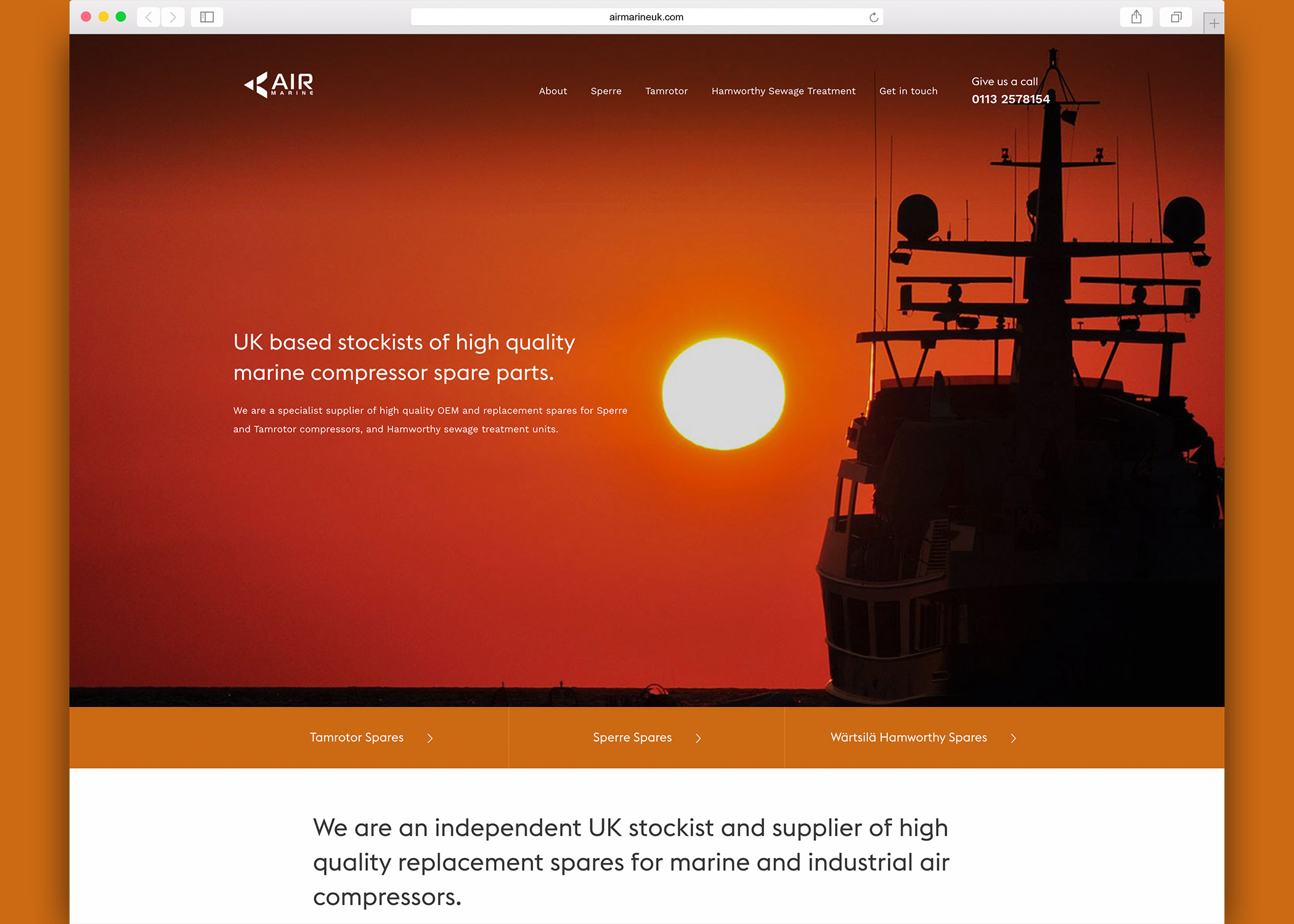 Air Marine UK - Website