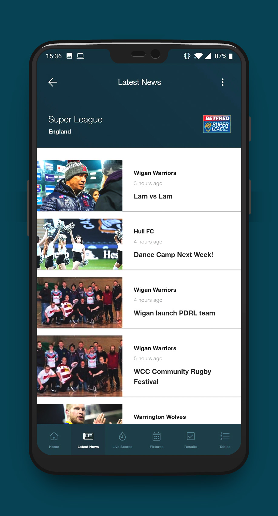 Rugby League Hub - App